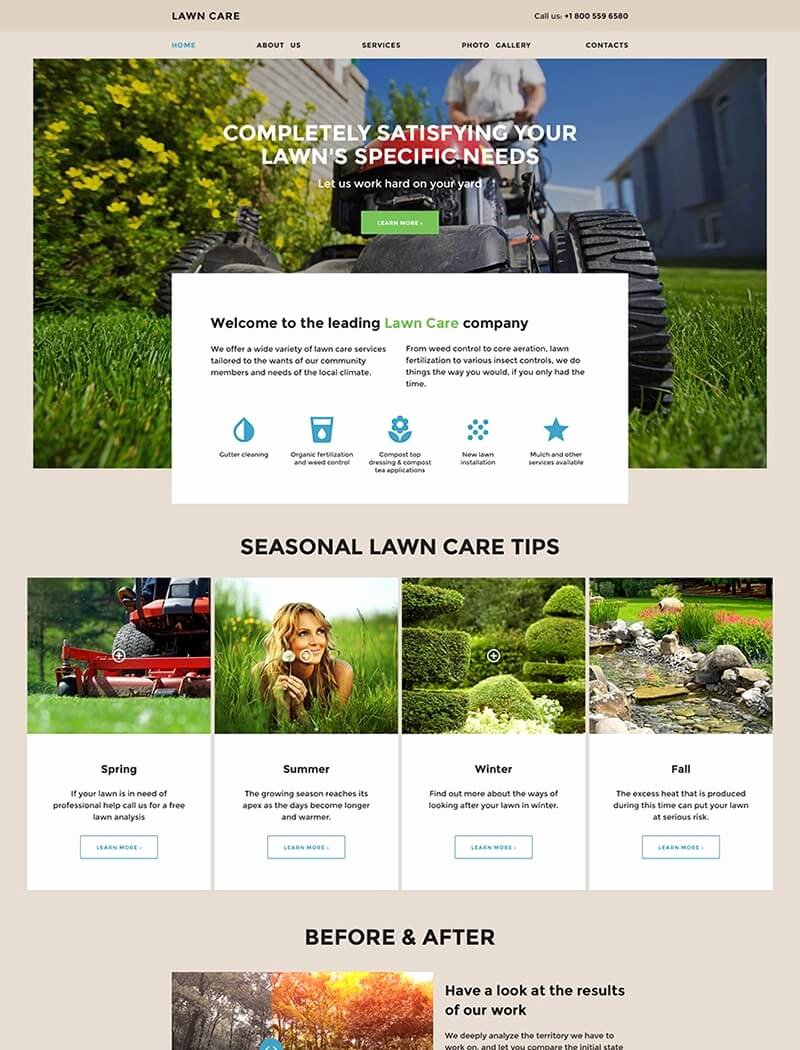 Lawn Care Website Template Inspirational A Colossal Deal From the Mightiest at Template Monster 50