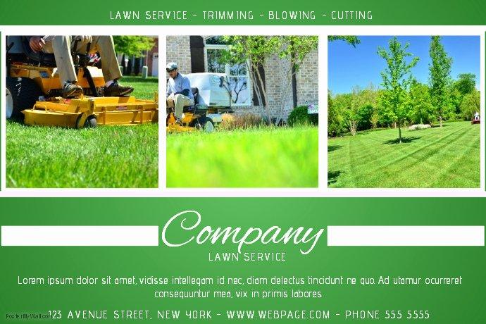 Lawn Care Website Template Inspirational Lawn Service Green Landscape Flyer Template