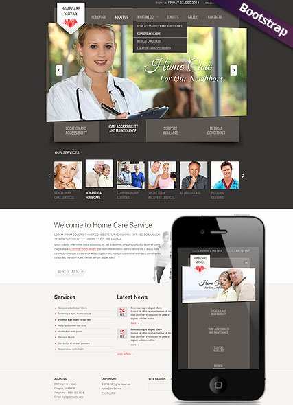 Lawn Care Website Template New Home Care Service Website Template Bootstrap Mobile