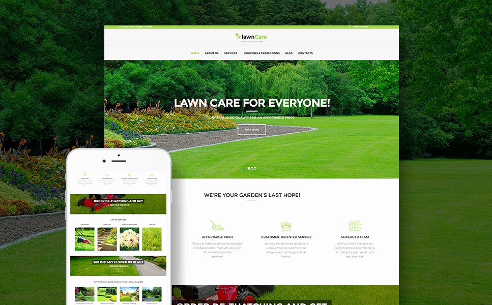 Lawn Care Website Template New Lawn Mowing Website Template Entown Posters