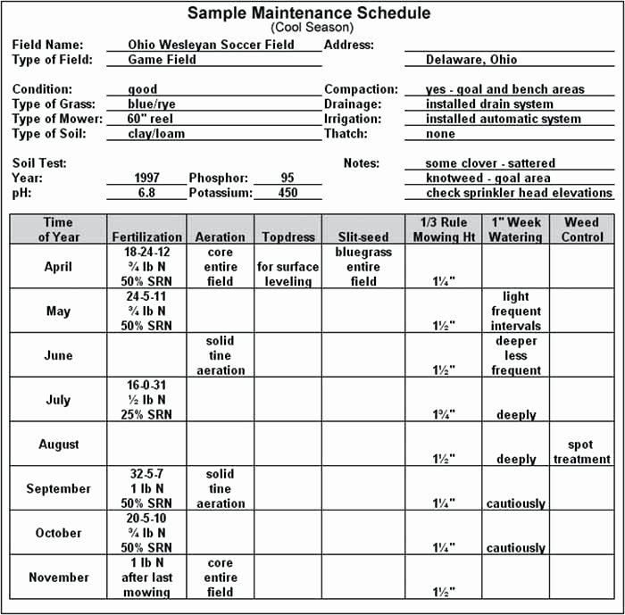 Lawn Maintenance Schedule Template Unique Lawn Maintenance Schedule Template Mower Business Plan