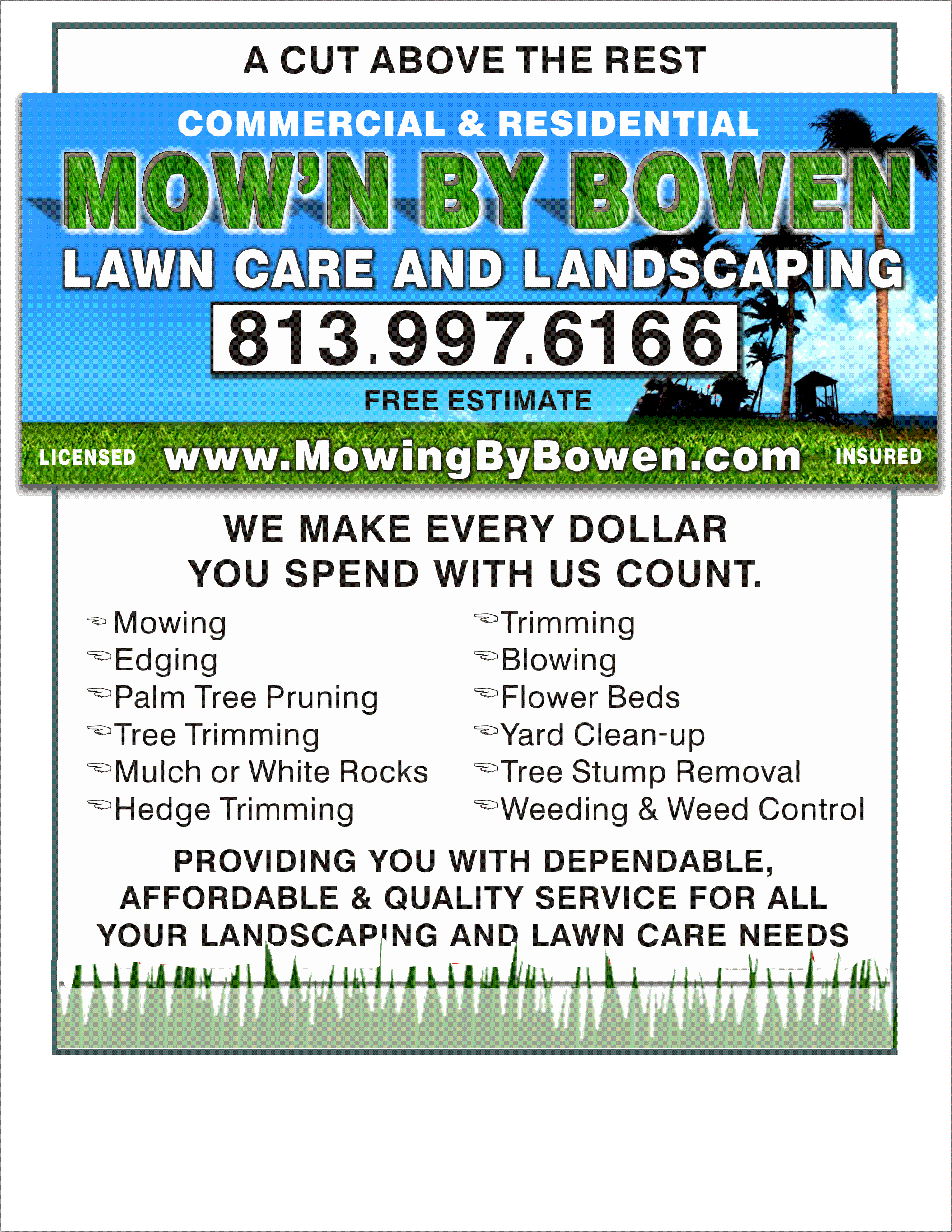 Lawn Mower Flyer Template Beautiful Examples Lawn Mowing Flyers