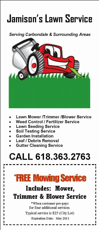 Lawn Mower Flyer Template Elegant Examples Lawn Care Flyers