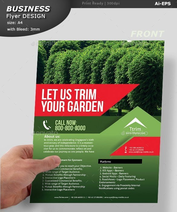 Lawn Mower Flyer Template Fresh Lawn Mowing Flyer English Flyer Design