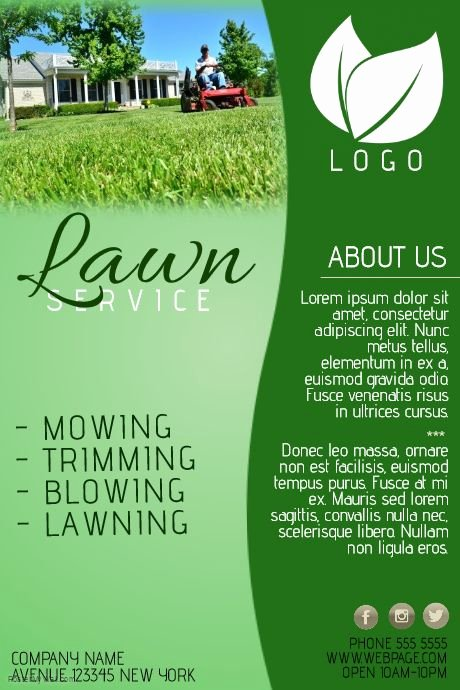 Lawn Mower Flyer Template Inspirational Create Amazing Lawn Care Flyers by Customizing Our Easy to