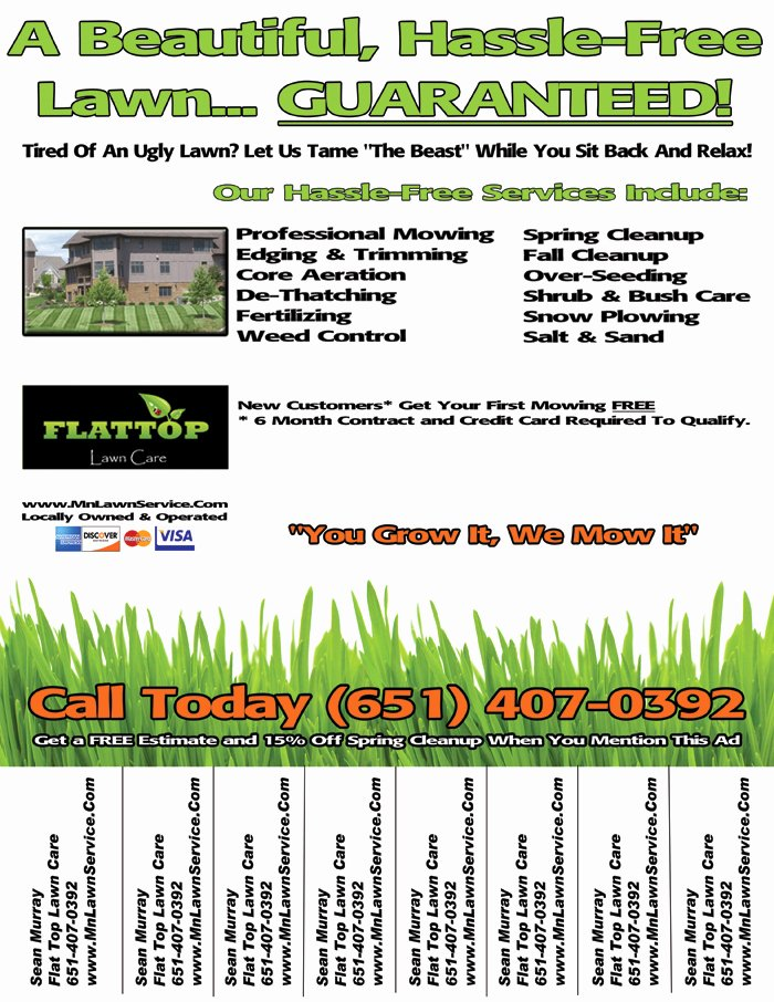 Lawn Mower Flyer Template Inspirational Lawn Care Flyer