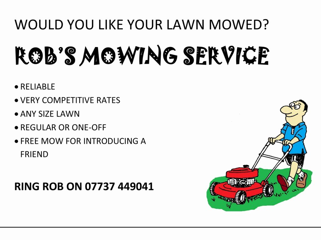 Lawn Mower Flyer Template New Lawn Care Flyer Template