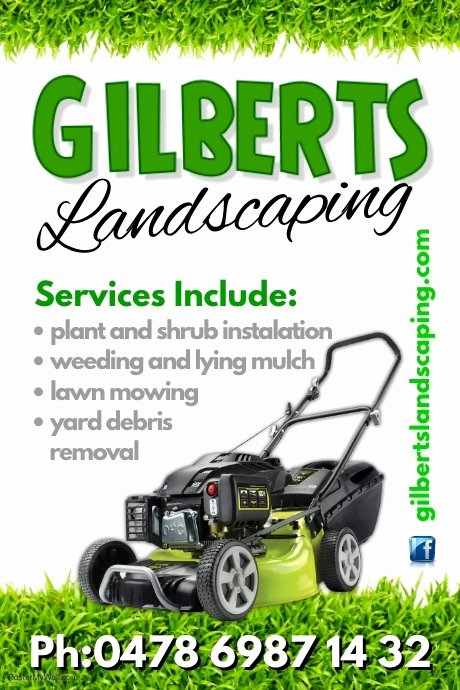 Lawn Mowing Flyer Template Awesome Landscaping Poster Template
