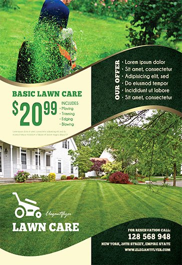 Lawn Mowing Flyer Template Best Of Lawn Care – Free Flyer Psd Template – by Elegantflyer