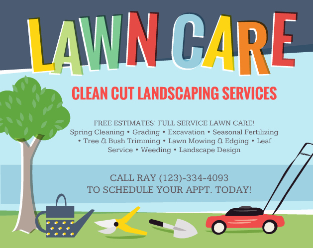 Lawn Mowing Flyer Template Elegant Lawn Care Flyers – Should You Use them the Lawn solutions