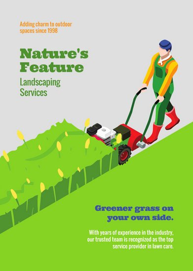 Lawn Mowing Flyer Template Lovely Customize 68 Landscaping Flyer Templates Online Canva
