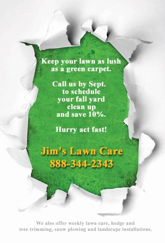 Lawn Mowing Flyer Template Unique 16 Best Lawn Care Flyers Images On Pinterest