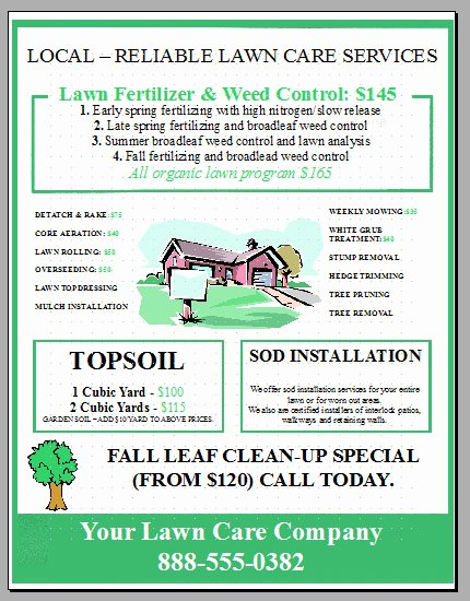 Lawn Mowing Flyer Template Unique New Lawn Care Business Flyer Template Added