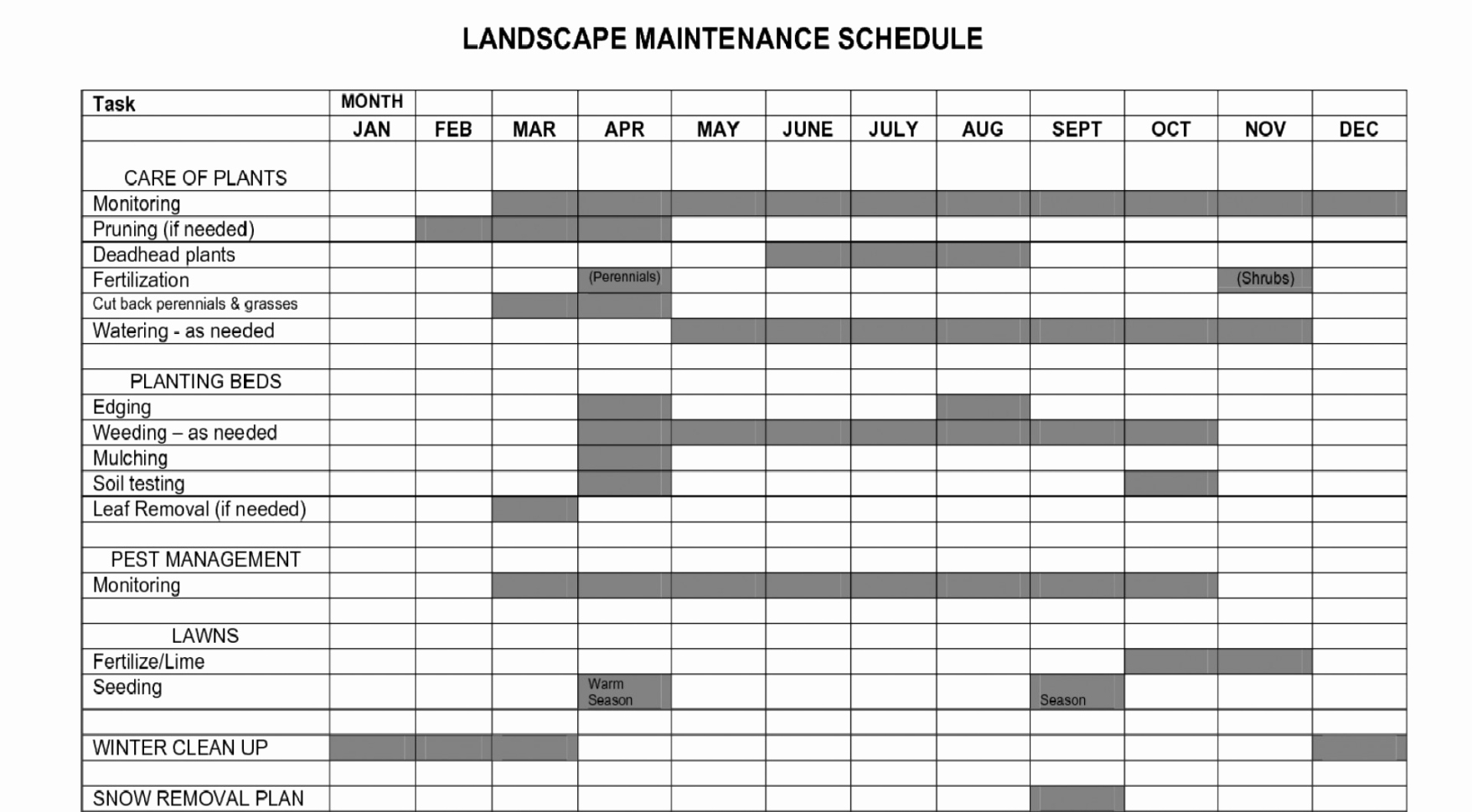 Lawn Mowing Schedule Template Beautiful Lawn Care Schedule Spreadsheet Spreadsheet Downloa Lawn