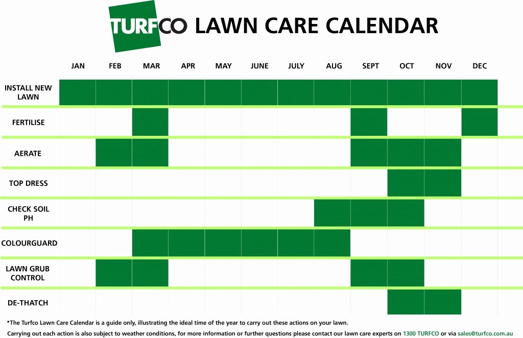 Lawn Mowing Schedule Template Fresh Lawn Care Calendar