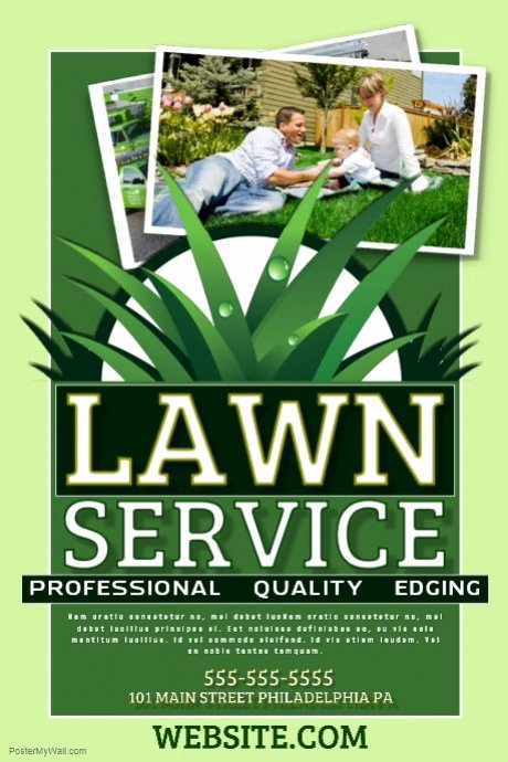 Lawn Service Flyer Template Beautiful Lawn Service Template
