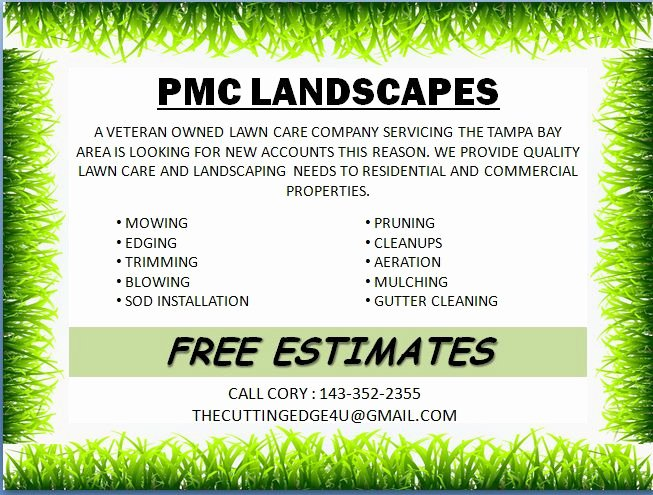 Lawn Service Flyer Template Fresh Free Landscaping Flyer Templates to Power Lawn Care