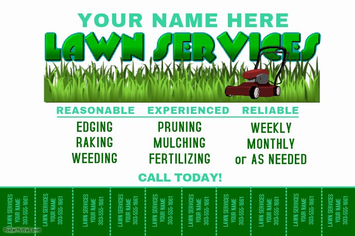 Lawn Service Flyer Template Fresh Lawn Service Template