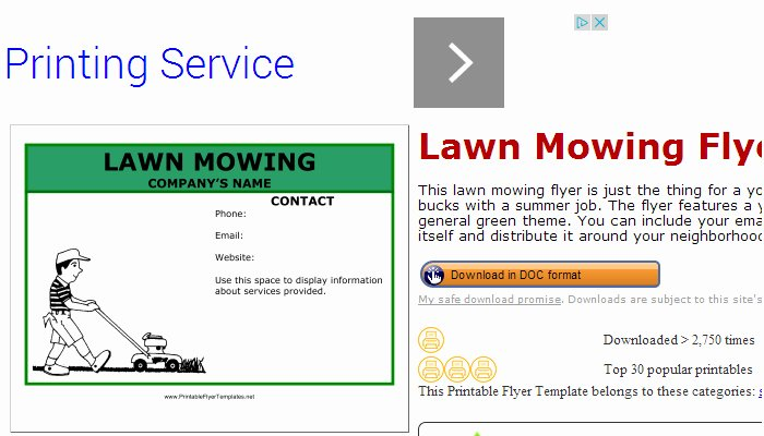 Lawn Service Flyer Template Inspirational June 2014 Af Templates