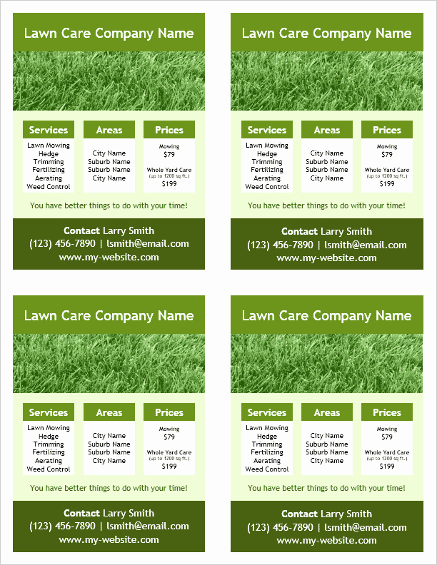 Lawn Service Flyer Template Inspirational Lawn Care Flyer Template for Word