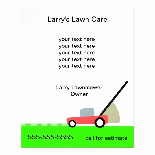 Lawn Service Flyer Template Inspirational Lawn Care Services Flyer