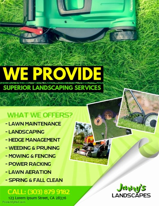 Lawn Service Flyer Template New Lawn Service Flyer Template