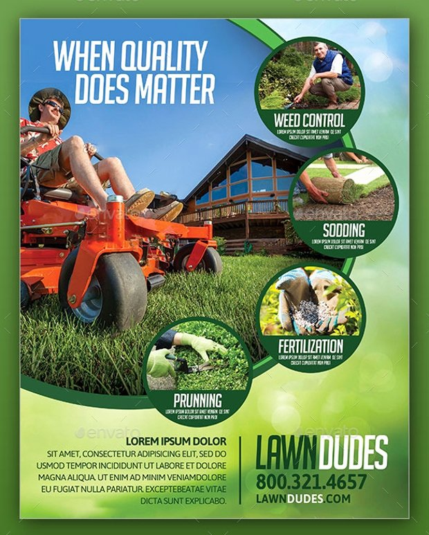 Lawn Service Flyer Template Unique 18 Landscaping Flyer Templates Printable Psd Ai