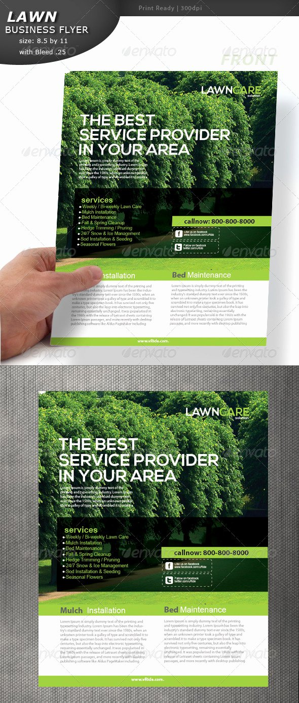 Lawn Service Flyer Template Unique Lawn Care Flyer by Designcrew