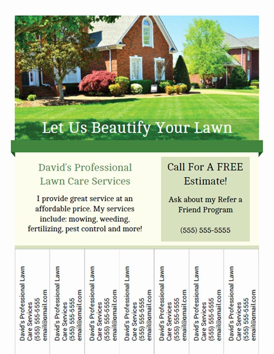 Lawn Service Flyer Template Unique Printable Lawn Care Business Flyer Templates