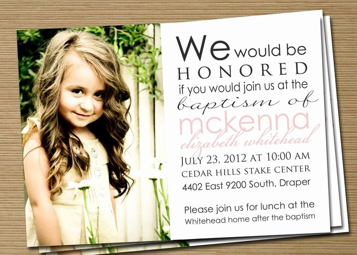 Lds Baptism Invitation Template Beautiful Best 25 Baptism Invitations Girl Ideas On Pinterest