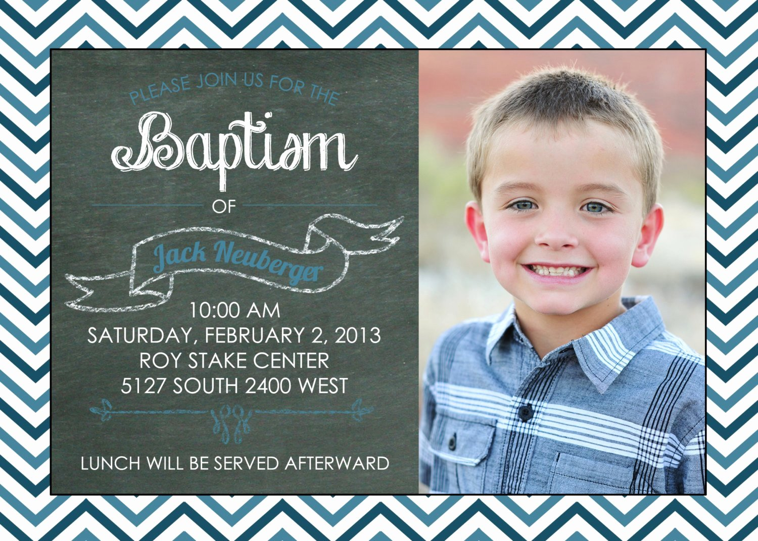 Lds Baptism Invitation Template Elegant Printable Chalkboard Baptism Invitation Lds by Brendaneuberger