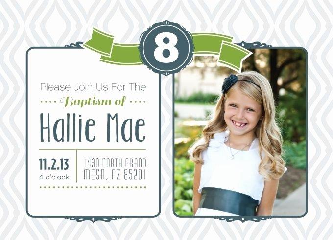 Lds Baptism Invitation Template Fresh Hallie S Baptism Invitation