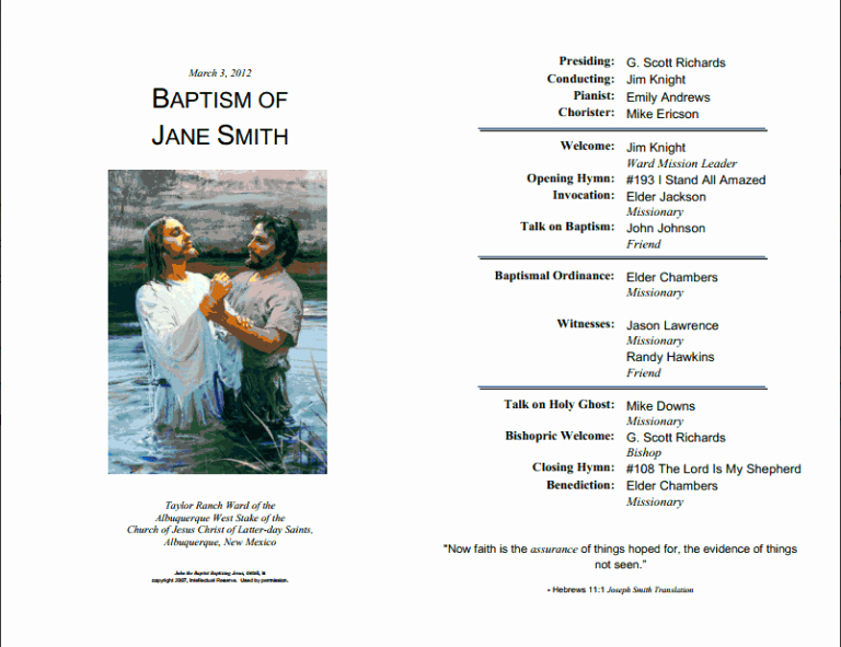 Lds Baptism Invitation Template Inspirational Mormon Baptism Invitations