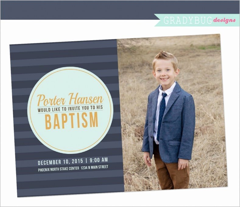 Lds Baptism Invitation Template Luxury 27 Baptism Invitation Templates Psd Word Publisher