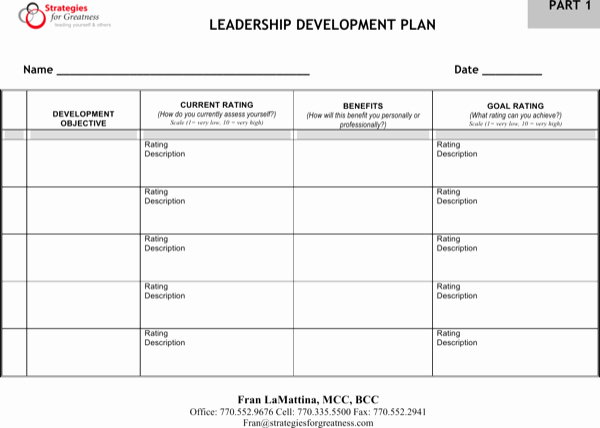 Leadership Development Plan Template Awesome Download Leadership Development Plan Free Pdf Template