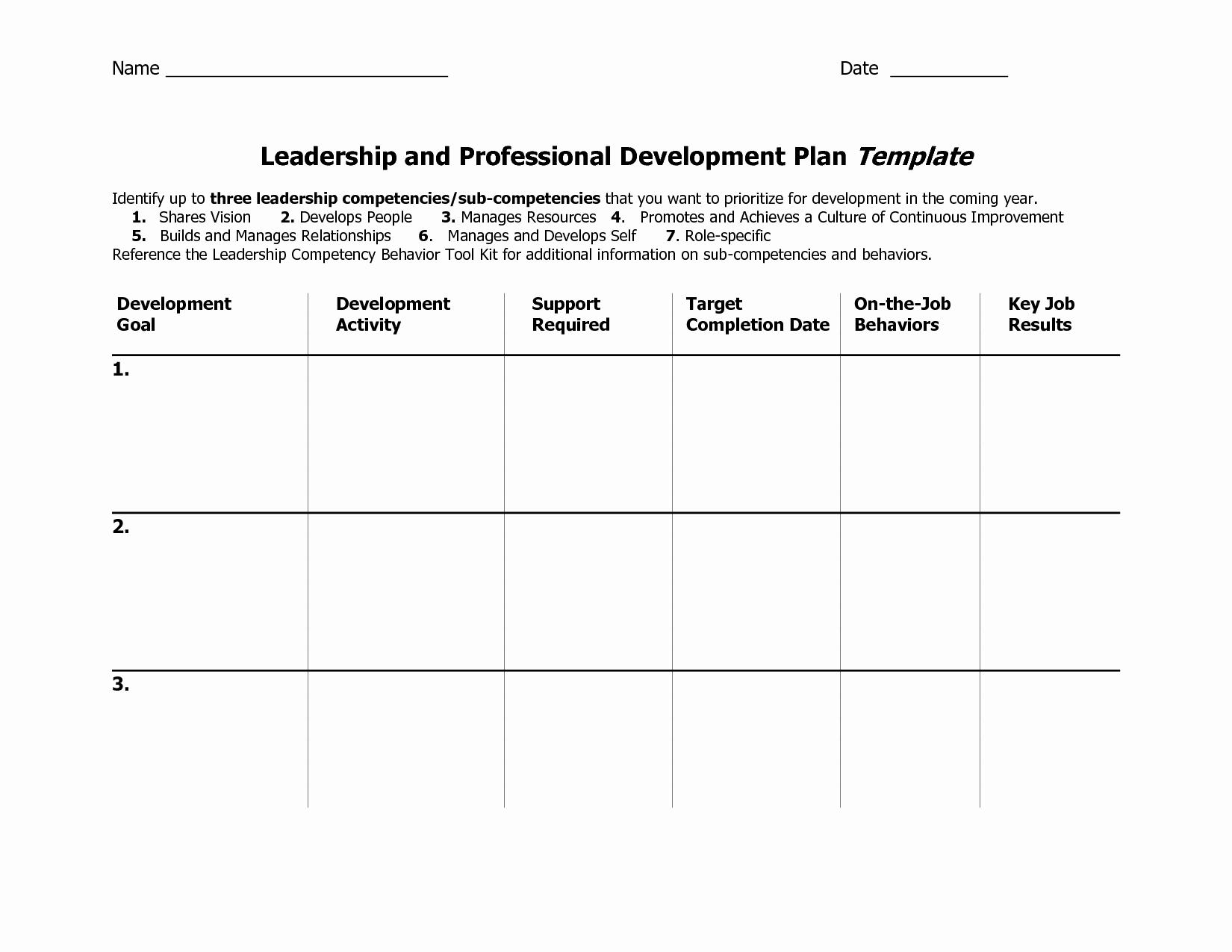 Leadership Development Plan Template Awesome Individual Development Plan Template Word Google Search