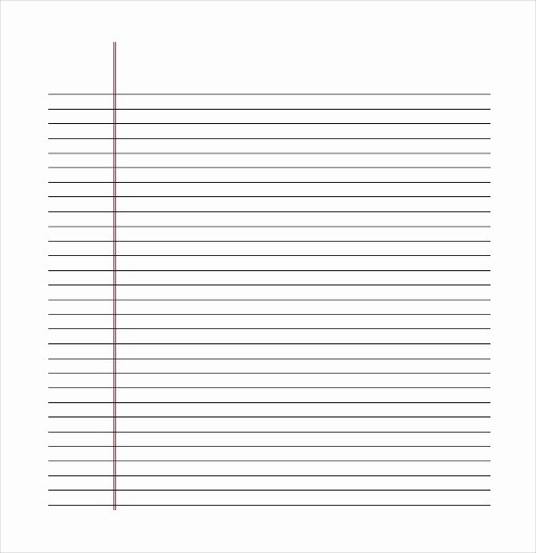 Leaf Template with Lines Beautiful 11 Line Paper Templates Free Sample Example format