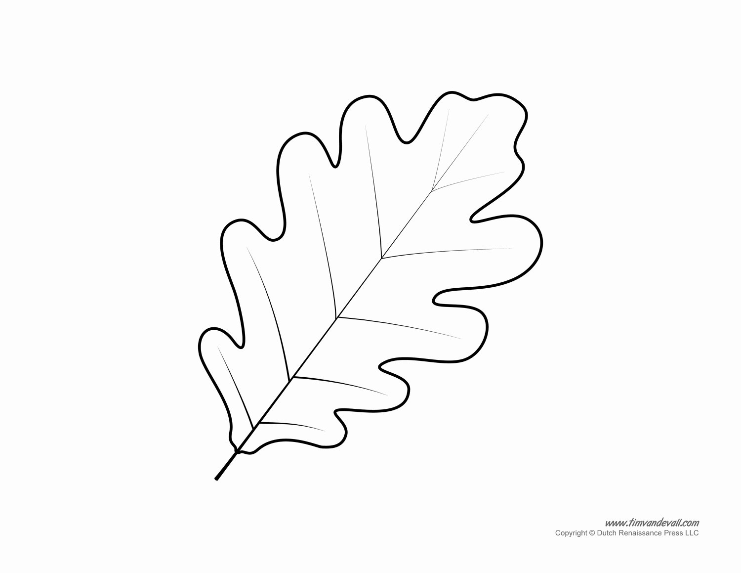 Leaf Template with Lines Best Of Oak Leaf Coloring Page Image Clipart Grig3