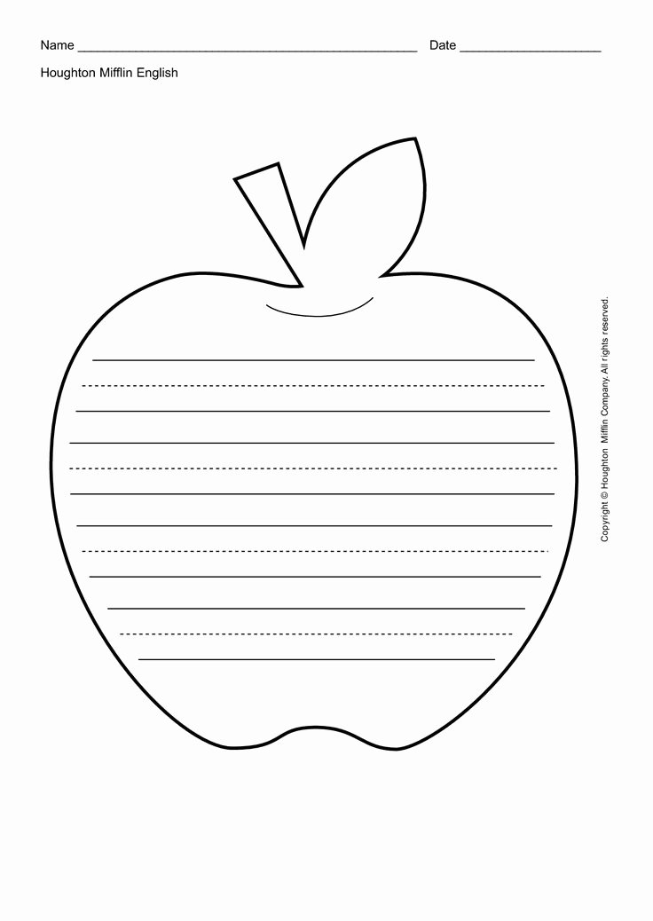 Leaf Template with Lines Lovely Apple Printables