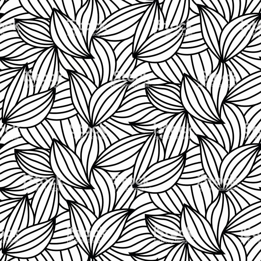 Leaf Template with Lines New Abstract Leaf Lines Seamless Pattern Modern Design Stock