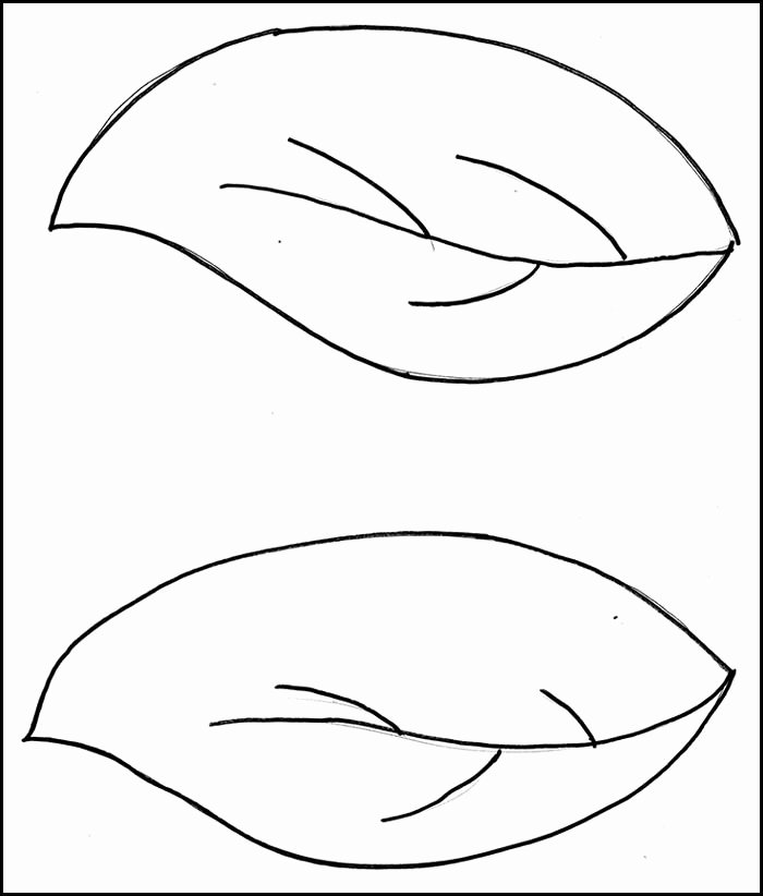 Leaf Template with Lines New Leaf Template with Lines Lavanc