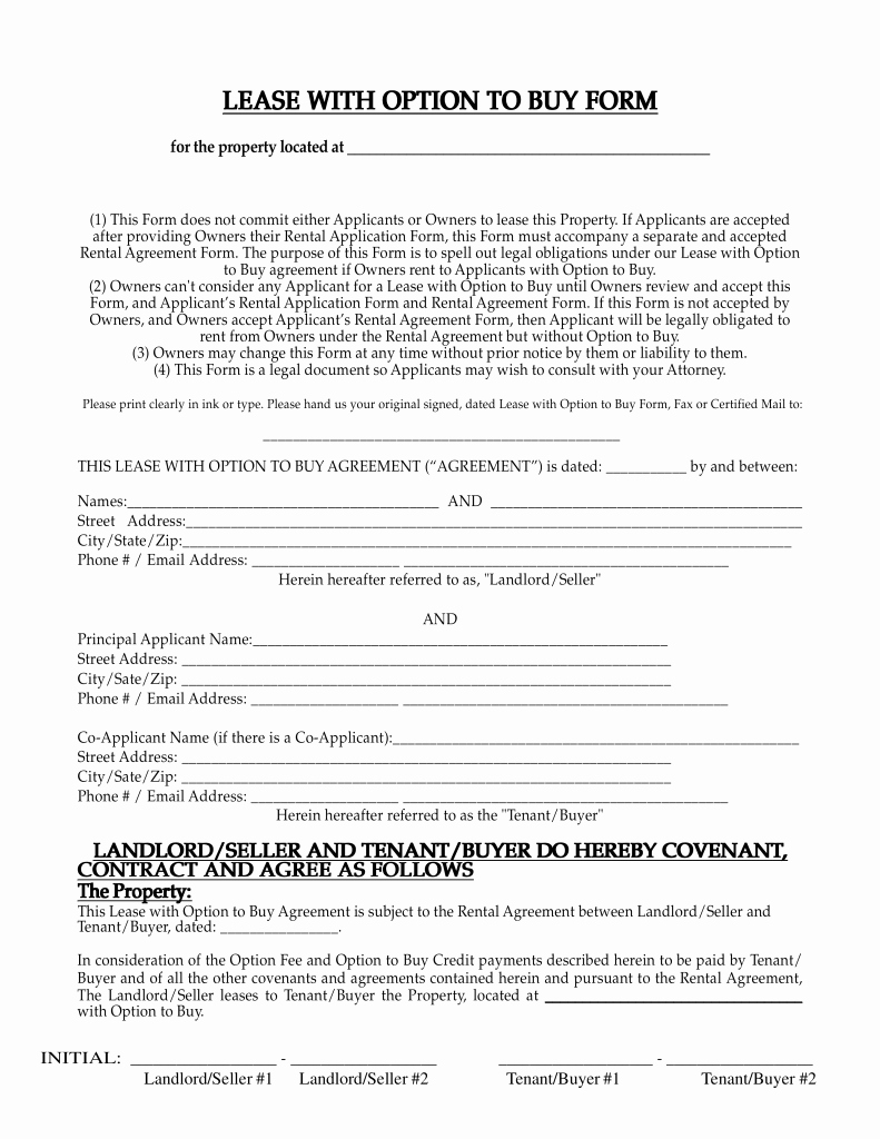 Lease Purchase Agreement Template Beautiful Free New Mexico Lease with Option to Buy Agreement Pdf