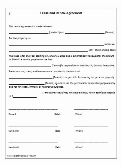 Lease Purchase Agreement Template Beautiful Rent Lease Agreement