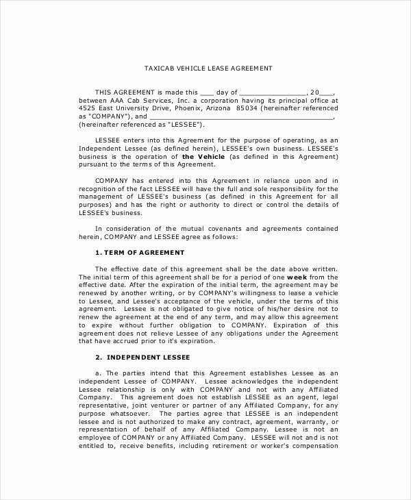 Lease Purchase Agreement Template Fresh Lease Purchase Agreement 9 Free Pdf Word Documents