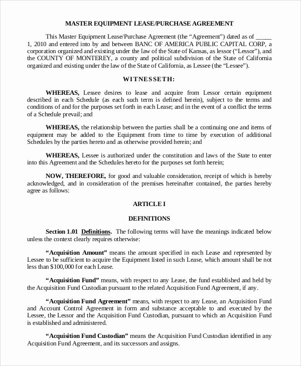 Lease Purchase Agreement Template Lovely 9 Sample Lease Purchase Agreements