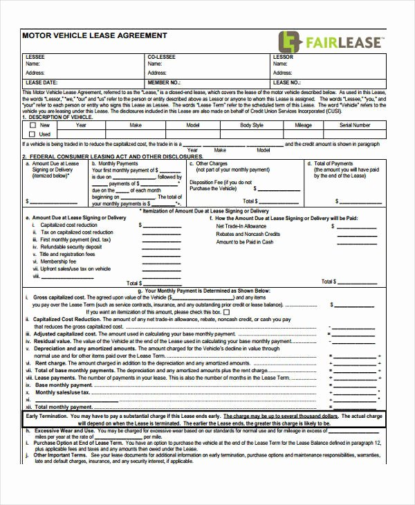 Lease Purchase Agreement Template Luxury 7 Vehicle Purchase Agreement form Samples Free Sample