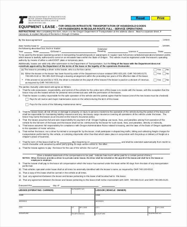 Lease Purchase Agreement Template New Mercial Lease Agreement 10 Free Pdf Word Documents