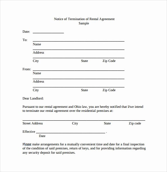 Lease Termination Agreement Template Elegant Lease Termination Agreement 12 Free Word Pdf format