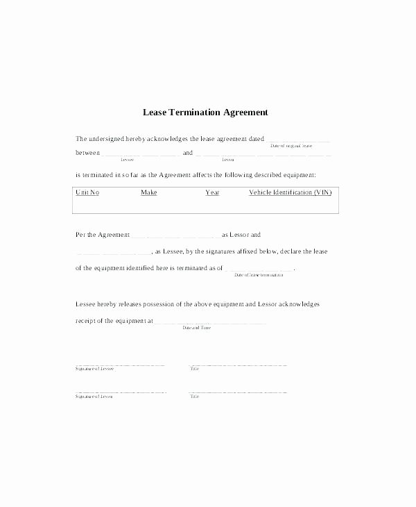 Lease Termination Agreement Template Fresh Letter to Terminate Lease Agreement Landlord for