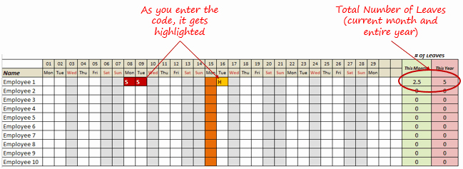 Leave Tracker Excel Template Beautiful A Collection Of Free Excel Templates Download now